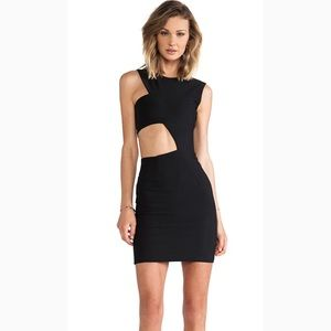 Solace London Dress Mendes Mini Cutout Bodice